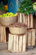 Fruit market  in india Stock Photos