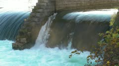 River Flows out of a Hydroelectric Plant on the Niagara Stock Footage