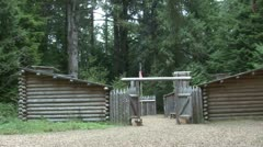 P02373 Fort Clatsop Historic Site in Oregon Stock Footage