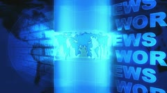 World News Background Blue Looping Stock Footage