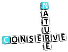 3d nature conserve crossword - stock illustration