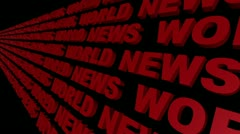 World News Looping Text Angle Four - stock footage