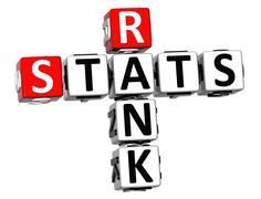 3d rank stats crossword Stock Illustration