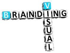 3d visual branding crossword Stock Illustration