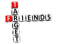 Stock Illustration of 3d target friends crossword