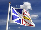 Newfoundland flag canada Stock Photos