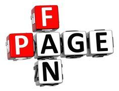 3d fan page crossword - stock illustration