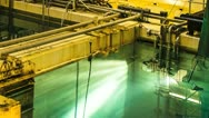 Nuclear Power Station Spent Fuel Rod Storage Pond Chamber Stock Footage
