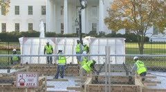 Preparing for U.S. president's inauguration Stock Footage