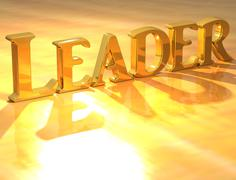 3d leader gold text - stock illustration