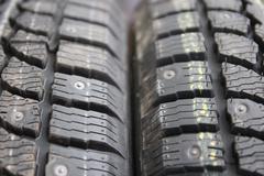 Winter tires Stock Photos