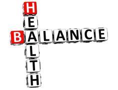 3d health balance crossword Stock Illustration