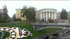 Arts Center and the Independence Square in Kiev Stock Footage