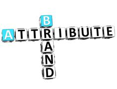 3d brand attribute crossword - stock illustration