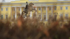 Peter The Great monument, St.petersburg, Russia. Stock Footage