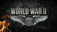 WORLD WAR 2  | Opening Title  w/ American wings and Nazi footage - stock footage
