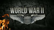 WORLD WAR 2  | Opening Title  w/ American wings and Nazi footage Stock Footage