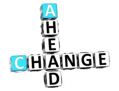 3d change ahead crossword Stock Illustration