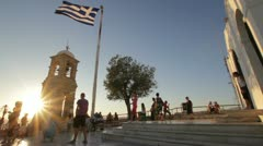 Hill panorama in Greece Stock Footage