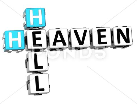 Stock Illustration of 3d heaven hell crossword