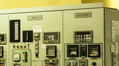 Nuclear Power Station Boiler Control Panel Stock Footage