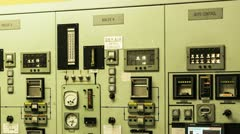 Nuclear Power Station Boiler Control Panel 2 Stock Footage