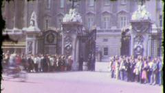 Buckingham Palace LONDON Tourists 1970s (Vintage Film Home Movie) 5655 - stock footage