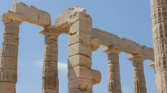 Poseidon temple in Greece Stock Footage