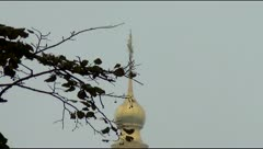Dome of St. Andrew's Church in Kiev Stock Footage