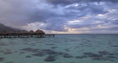 polynesian sunset - stock photo