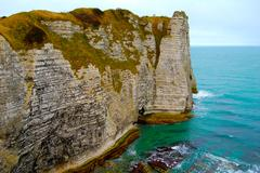 The Cliffs of Etretat, France Stock Photos