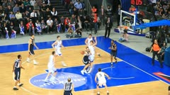 Defence in basketball game Stock Footage