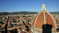 Duomo Cathedral dome, Florence Stock Footage