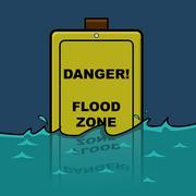 Flood zone Stock Illustration