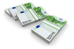 Stacks of Euro Stock Illustration