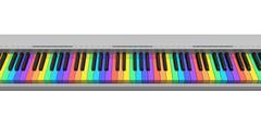 Rainbow synthesizer keyboard - stock illustration