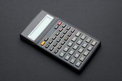Scientific calculator on black Stock Illustration