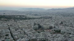 Athens panorama 360 degrees - stock footage