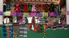 Mexican tourism store hats clothes souvenirs HD 3983 Stock Footage