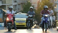 Stock Video Footage of Street traffic in Athens