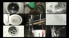 Water conservation - wastage at home Stock Footage