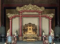 Throne in the forbidden city Stock Photos
