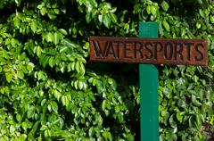 Watersports sign Stock Photos