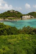 Antigua long bay Stock Photos