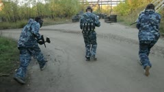 Paintball Steadicam Stock Footage