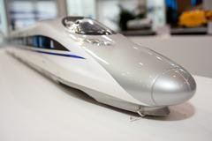 Urban transport, high-speed trains Stock Photos
