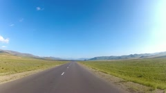 Driving on a desolated highway - stock footage