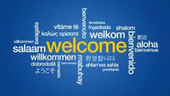 Welcome in different languages Stock Footage