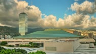 HDR Honolulu Convention Center, Silver Tower 4k Time Lapse Stock Footage