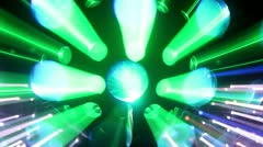 disco ball light effect colorful party - stock footage